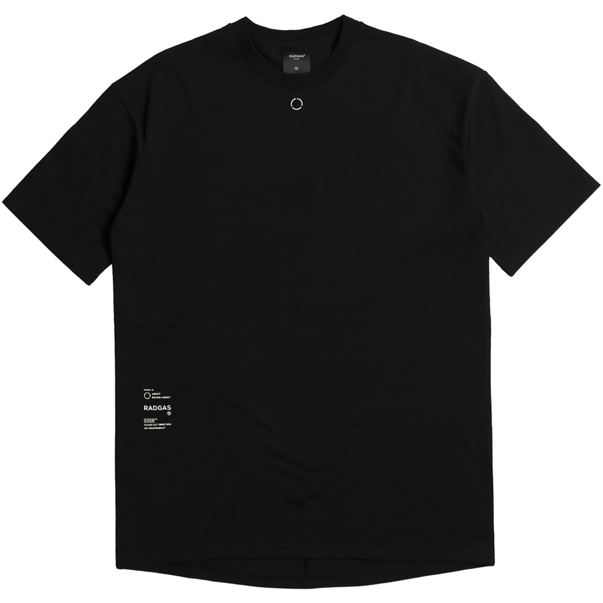 [라드가스] DROP SHOULDER OVERSIZE TEE - BLACK